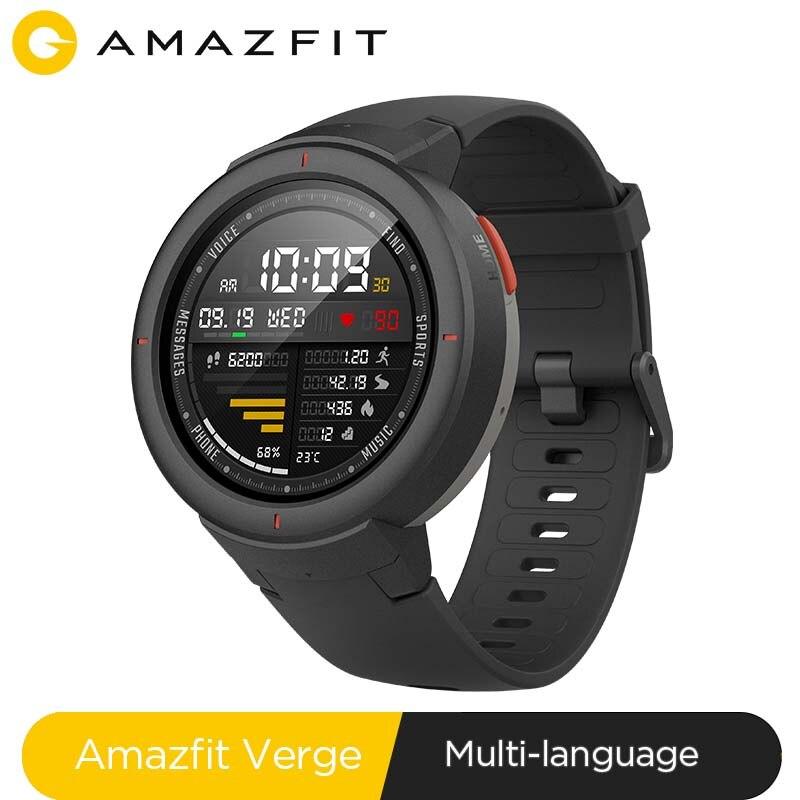 Original Global Amazfit Verge Sport Smartwatch GPS GLONASS Internal Storage Call Answer Smart Messag