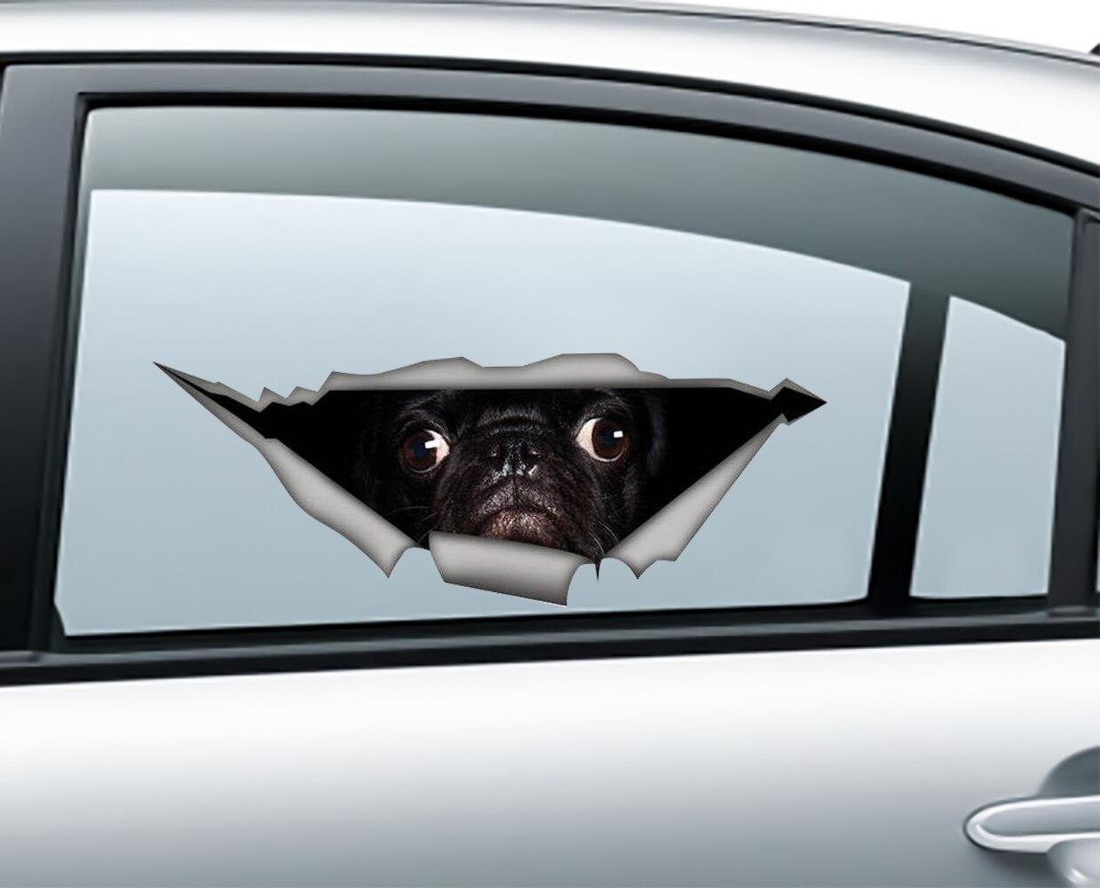 Автомобильная Наклейка 3D с животными, персонализированная наклейка s, компьютерная наклейка s, автомобильная наклейка s, Настенная Наклейка ...
