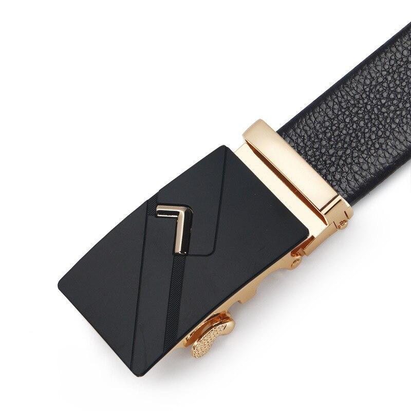 Men Belt Male Genuine Leather Belt Strap Belts For Men Top Quality Automatic Buckle black Belts Cummerbunds cinturon hombre
