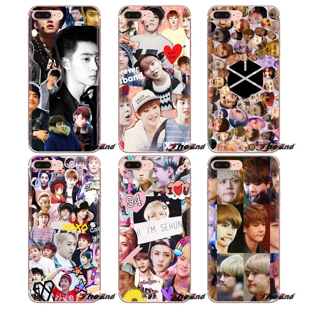 Мягкая сумка Exo Kris Derp Collage Music для iPhone XS Max XR X 4 4S 5 5S 5C SE 6 6S 7 8 Plus Samsung Galaxy J1 J3 J5 J7 A3 A5