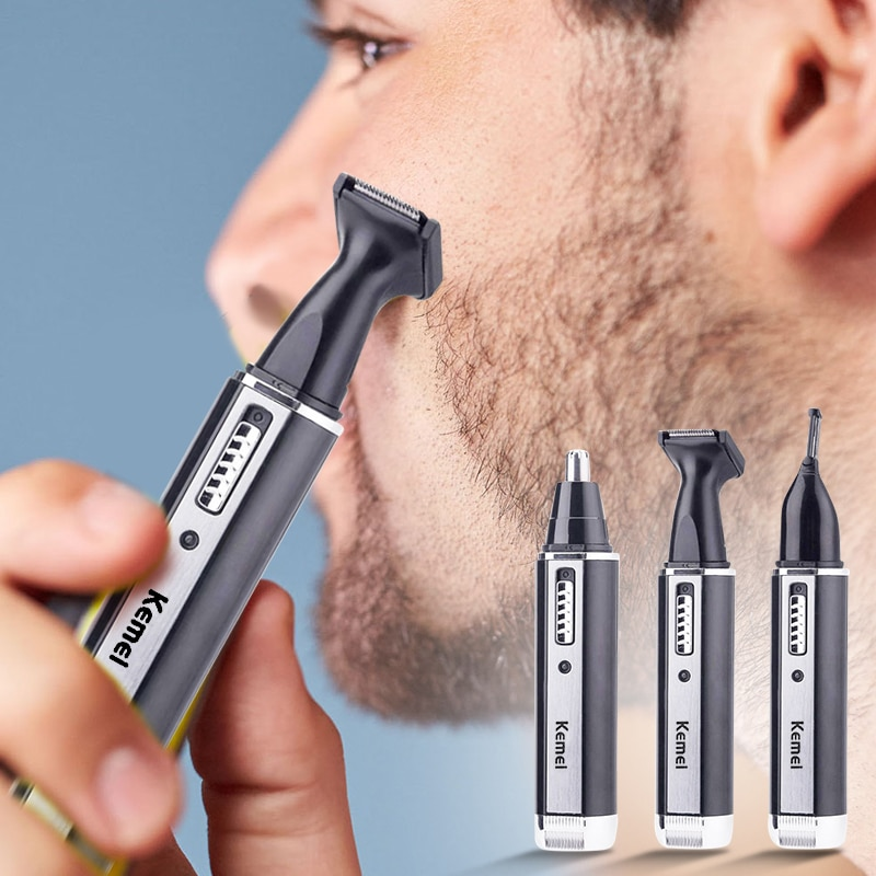 4 in 1 Rechargeable Men Electric Nose Ear Hair Trimmer Painless Women trimming sideburns eyebrows Be