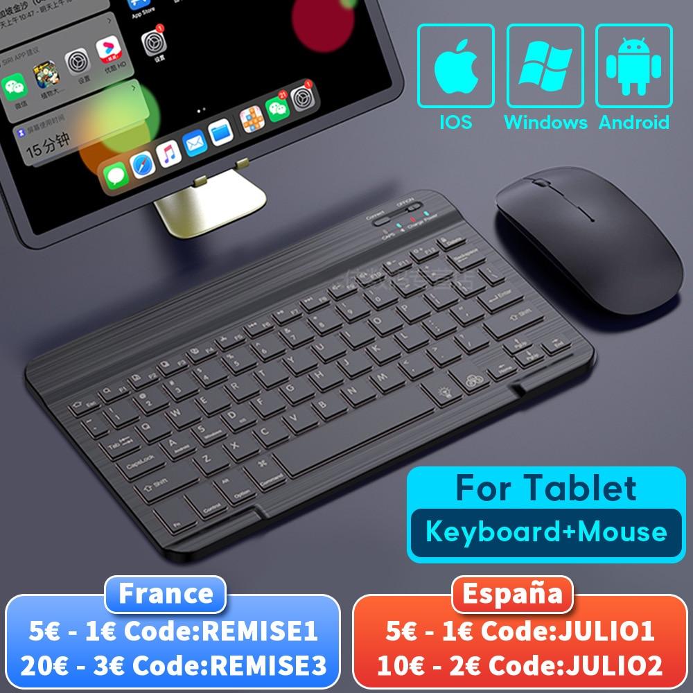 تابلت لوحة مفاتيح لاسلكية لباد برو 2020 11 12.9 10.5 Teclado ، بلوتوث متوافق مع لوحة المفاتيح ماوس لباد 8th 7th Air 4 3 2