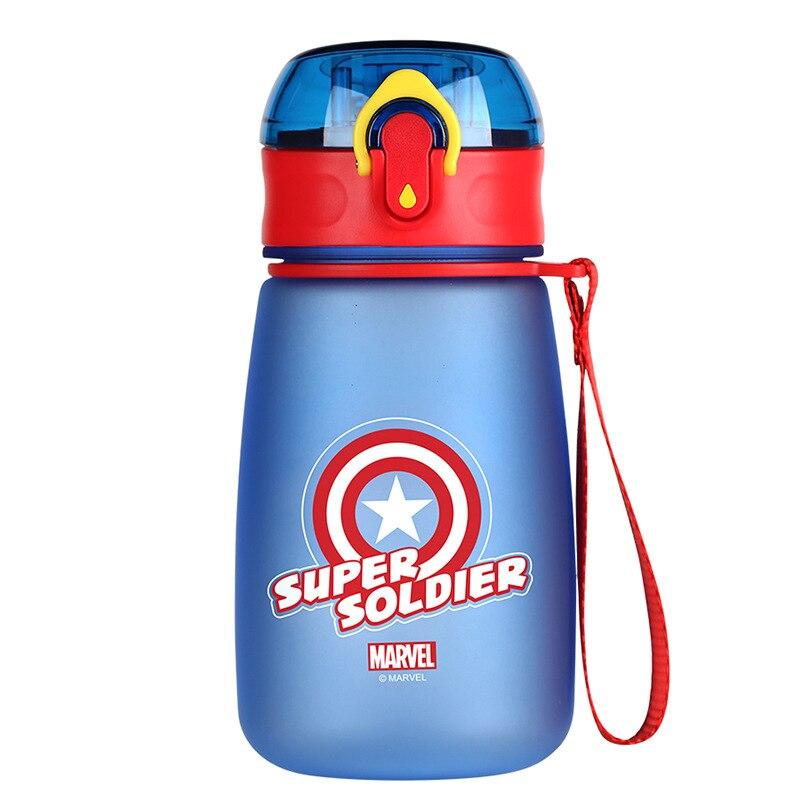 ديزني كابتن أمريكا كوب الصيف قطرة كوب بلاستك المدرسة الابتدائية الذكور المحمولة غلاية لطيف زجاجة ماء