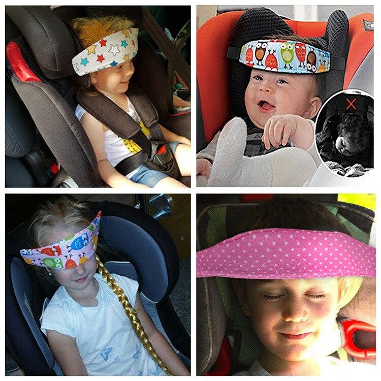 Регулируемое автомобильное кресло безопасности для детей, позиционер для сна, поддержка головы, детская коляска, ремень крепления для млад...