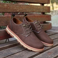 2020 new big head leather shoes british leisure shoes retro thick soled mens fashion shoes