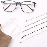 eyewear spectacles chain metal necklace glasses chain lanyard chains women accessories sunglasses hold straps cords