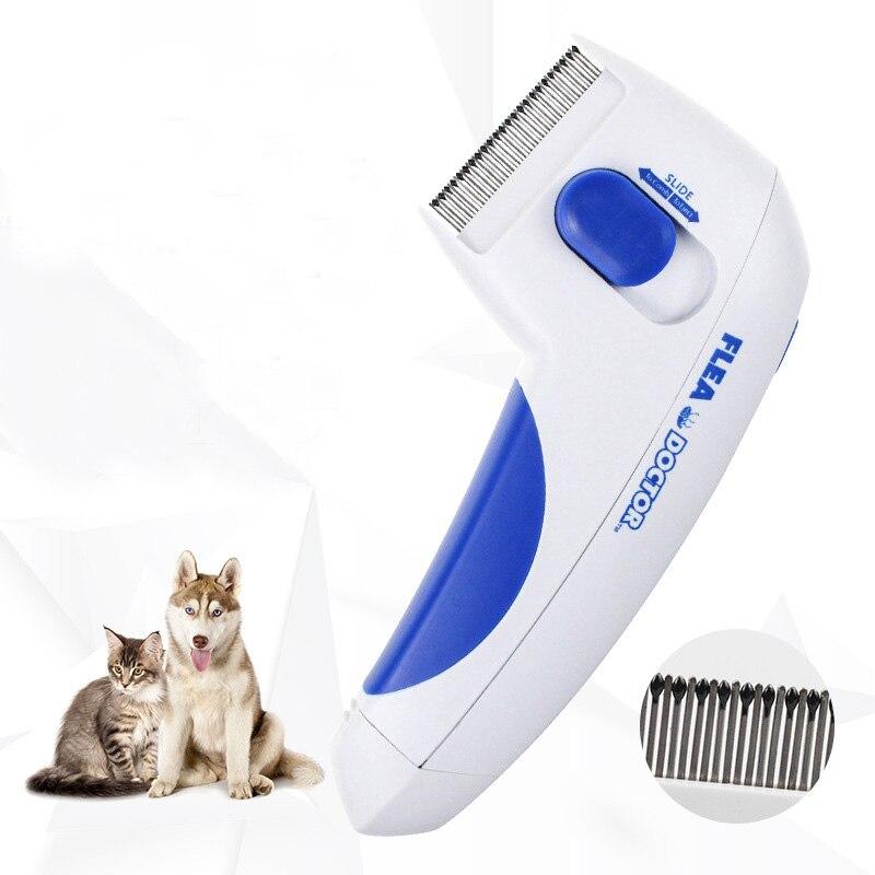 Peine para pulgas eléctrico para mascotas, peine para perros y gatos para pulgas, herramientas de eliminación de Aseo para pulgas, cepillo eléctrico para la cabeza de los piojos, productos para mascotas