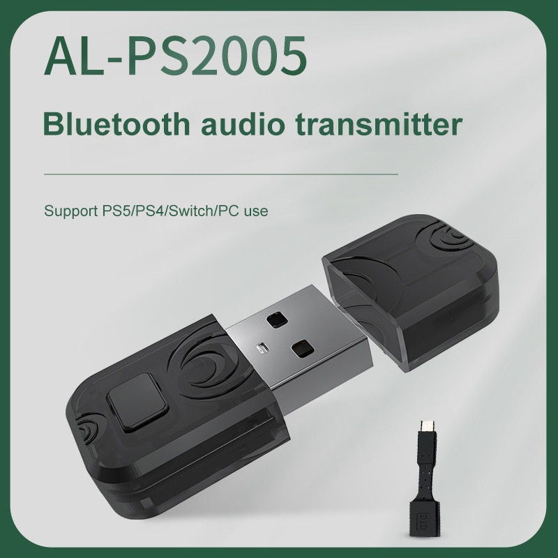 Bluetooth Wireless Headset Adapter Transmitter Support For PC Computer PlayStation 5 PS5 PS4 Switch Bluetooth Receiver belcat btc 5 wireless bluetooth receiver digital transmission system for phone and computer with 5m connector line