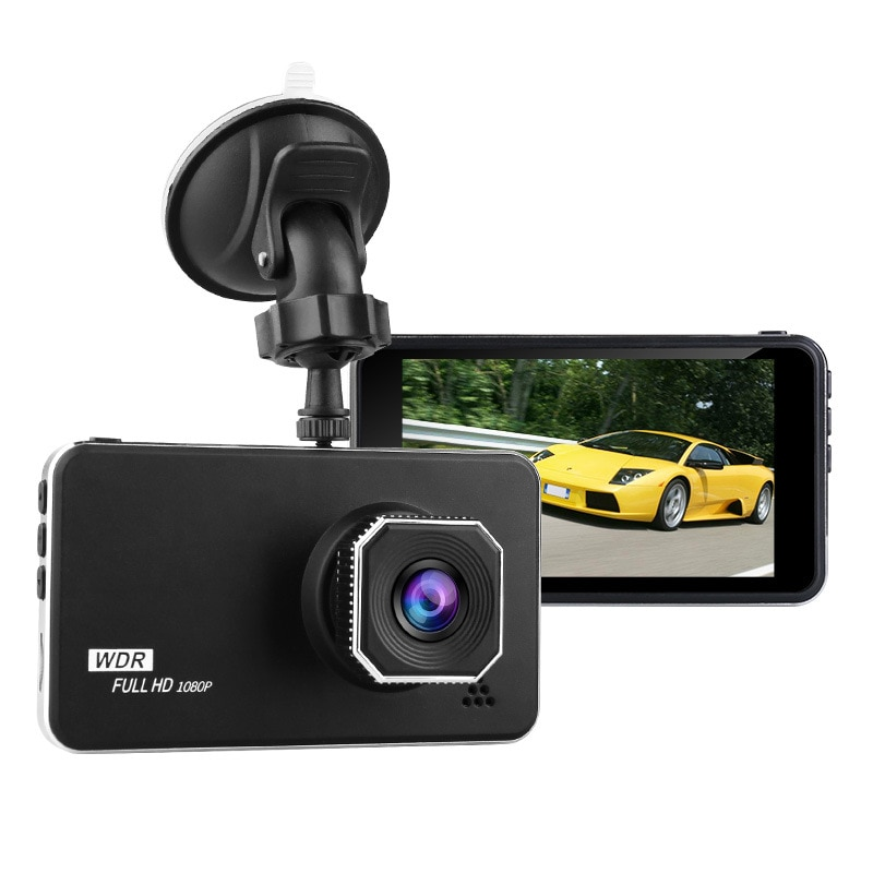 Grabadora de conducción 4,0 pulgadas Cámara Full HD 1920x1080 coche de aparcamiento pista Offset grabador Dvr Cámara Auto Dual Dash Cam