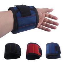 Fuerte muñequera de imán herramienta ajustable herramienta muñeca bandas para tornillos uñas tuercas y pernos Manos libres Portabrocas