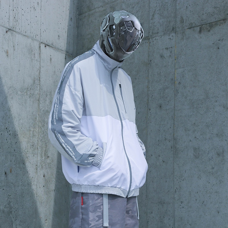 SILENTSTORM reflective jacket mens coaches jacket techwear oversize jacket running jacket