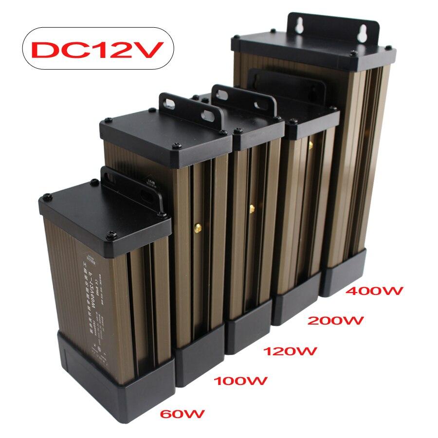 12 v 24 v à prova de chuva transformador de iluminação ac 220 v para dc 12 v 24 v transformador de alimentação 24 v fonte de alimentação 12 24 v ao ar livre à prova de chuva