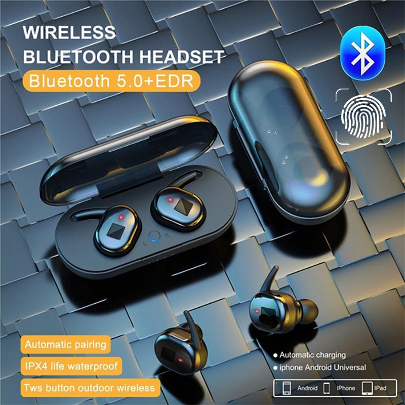 Bluetooth 5.0 TWS Wireless Earphones Noise Reduction Stereo In-ear Headphones Sport Headseat Earbuds