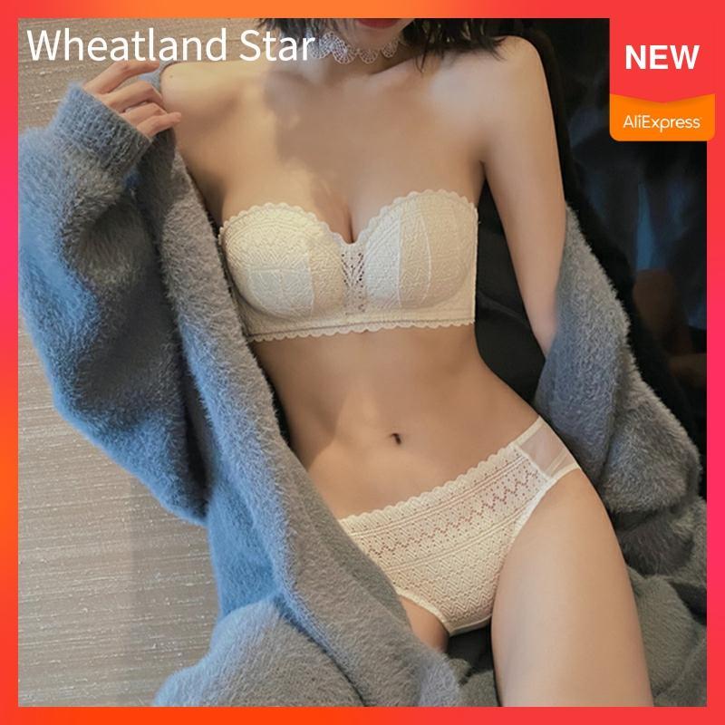 Brief Sets Tube Top Brassiere Push Up Women's Underwear Wire Free Bra Set Summer Comfy Lingerie Femme Hot Underwear & Sleepwears