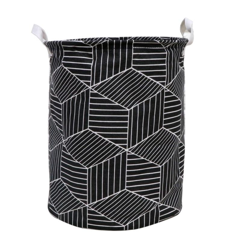 New-1Pc ropa arte geometría plegable ropa sucia balde de almacenamiento de juguetes cesta de almacenamiento doméstico ropa sucia cesta de lavandería 35x40