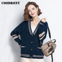 coodrony brand autumn winter knitted ladies soft sweaters with pocket streetwear fashion casual vintage cardigan for women w1457