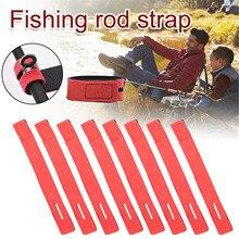 8 pièces canne à pêche fixe ceinture pêche fixation bande de protection noué bande laisses pour pêche équipement de pêche