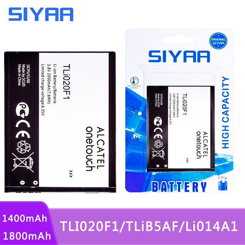 Аккумулятор для телефона SIYAA TLI020F1 TLiB5AF Li014A1 для TCL J720T J726T Alcatel One Touch Pop2 5042D C7 C5 7040 OT-7040 5036D 5037 4012