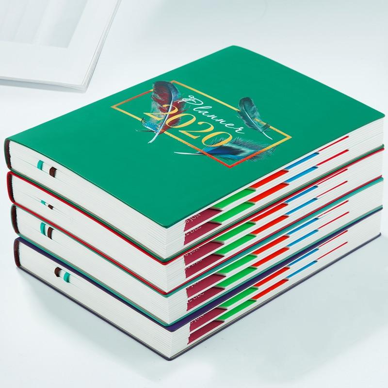 18 meses 2020 agenda planificadora diaria Cuaderno semanal de cuero organizador A5 libros de notas planificador mensual chino