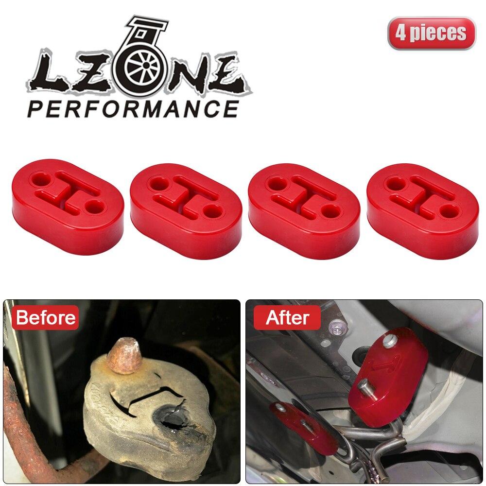 LZONE - 4pcs/Lot Universal Polyurethane Exhaust/Muffler Short Hangers Muffler Hangers Red or Blue JR8952