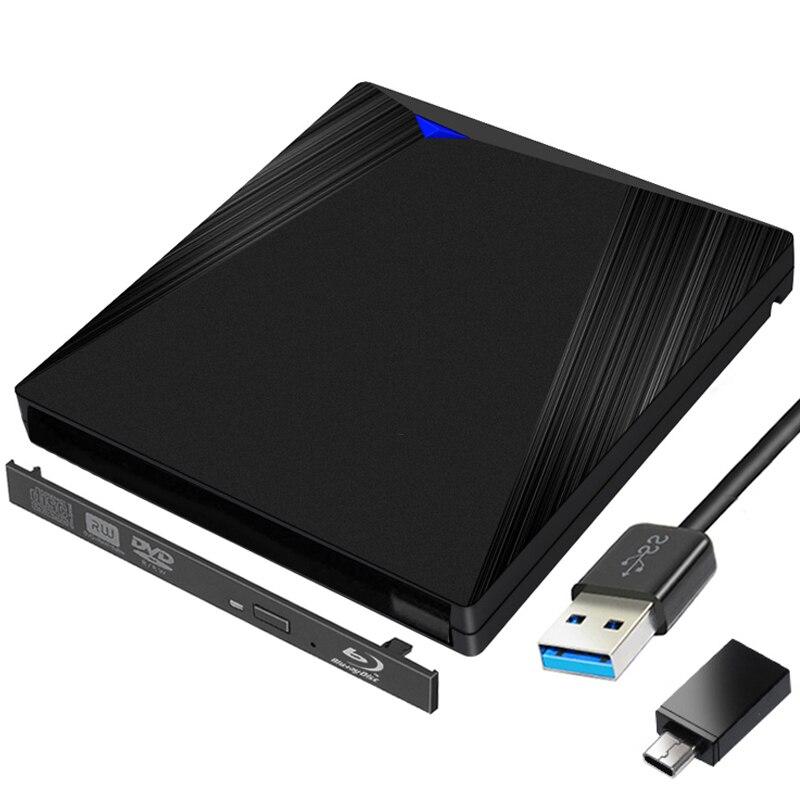 Case tipo c Caixa de Disco Externo para Computador Usb3.1 + Usb Preto Blu-ray Player Sata 12.7mm Óptico Portátil 3.0