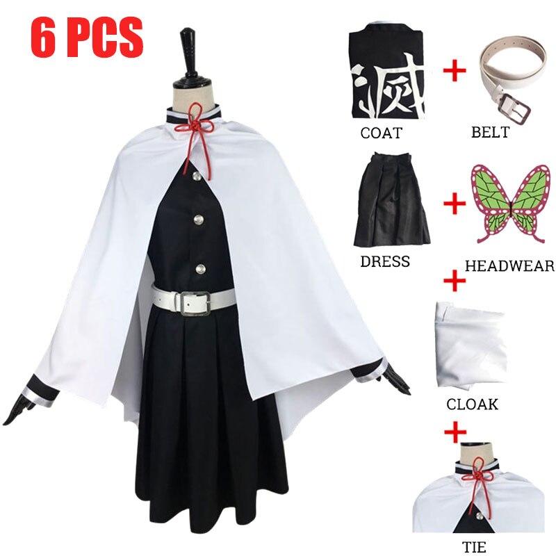 Tsuyuri Kanawo Costume Anime démon tueur Kimetsu no Yaiba combat Costume équipe uniforme Cosplay Costume Halloween Cos perruques accessoires