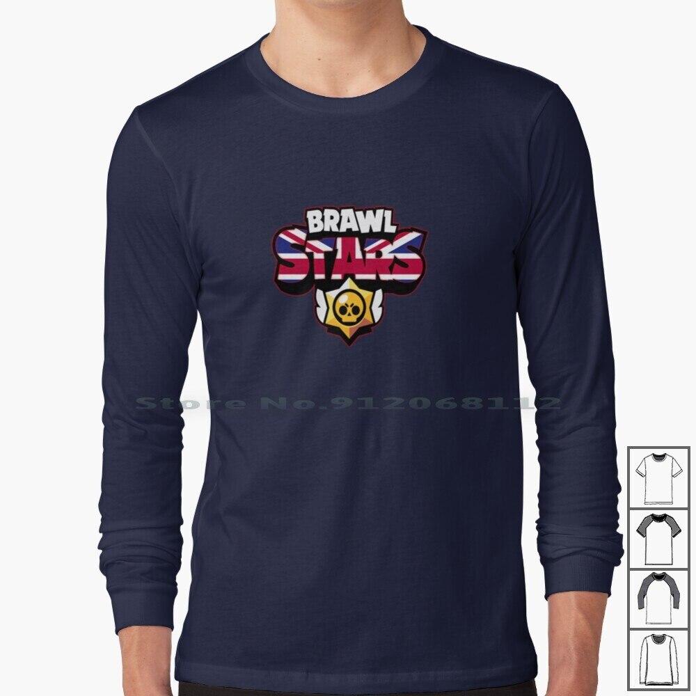 Uk Logo-Long Sleeve T Shirt Uk British Leon British New United Kingdom Logo England Uk Country Jj Ro Game Hack Fan Art Cartoon
