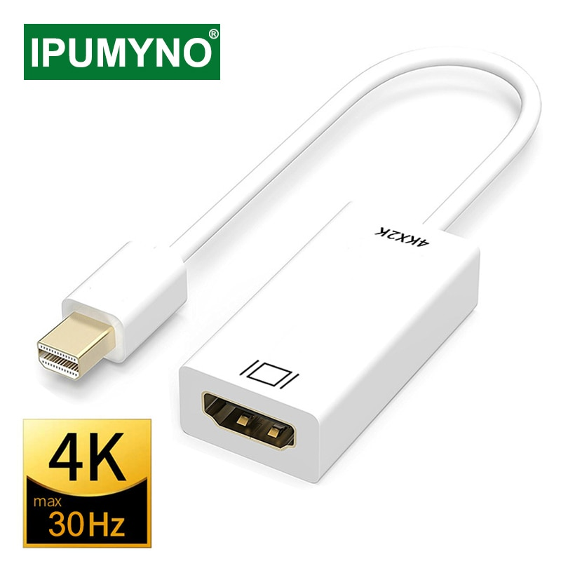 1 8m 6ft golden plated thunderbolt displayport mini display port dp to hdmi male adapter cable for apple macbook mac air pro Mini Displayport To HDMI-compatible Cable 4k 1080P TV Projector Projetor DP 1.4 Display Port Converter For Apple Macbook Air Pro