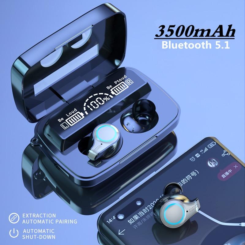 TWS Bluetooth 5.1 Earphones 3500mAh Charging Box Wireless Headphone 9D Stereo Sports Waterproof Earb