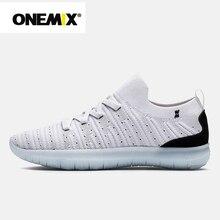 Onemix nova unisex meias sapatos de caminhada de pouco peso deslizamento-em sandálias de malha respirável atlético sapatos casuais tênis de caminhada