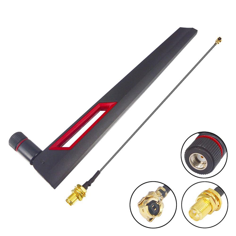 5 unid/lote 12 dbi banda Dual WIFI antena 2,4G 5g 5,8G RP SMA macho Antenne de + RP SMA a UFL IPX 1,13 WiFi Cable Pigtail