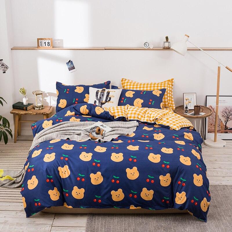 Funda de edredón de dibujos animados chico 135x20 0/150x200 funda de almohada 3 uds conjunto de funda de edredón 220x240, juego de cama de lujo, tamaño King Queen