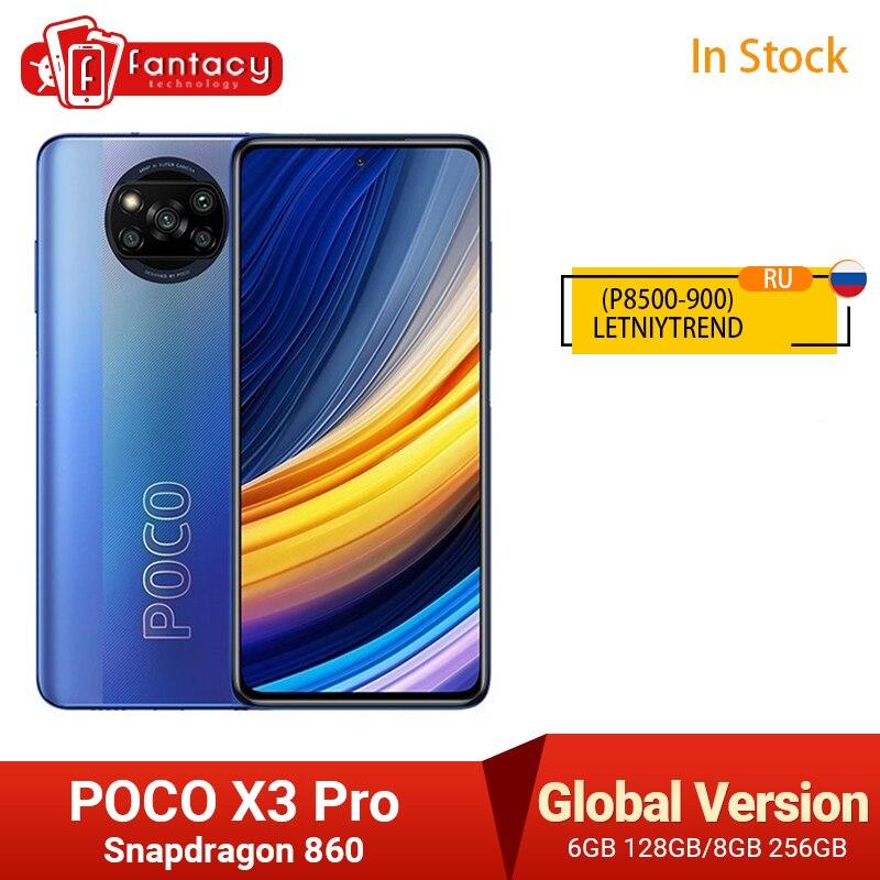POCO X3 Pro Global Version Snapdragon 860 Smartphone 8GB 256GB 120Hz DotDisplay 5160mAh 33W NFC Quad AI Camera In Stock