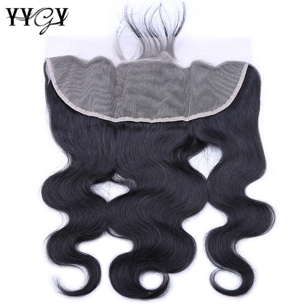 YYgY الشعر البرازيلي الجسم موجة الدانتيل إغلاق الجزء الأوسط 13X4 اللون الطبيعي ريمي الجسم موجة الشعر البشري حزم مع إغلاق أمامي