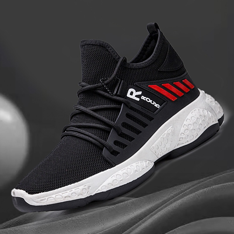 Sapatilhas masculinas 2020 novo verão respirável laço-up sapatos de malha masculina moda casual não-deslizamento sapatos vulcanizados tenis masculin
