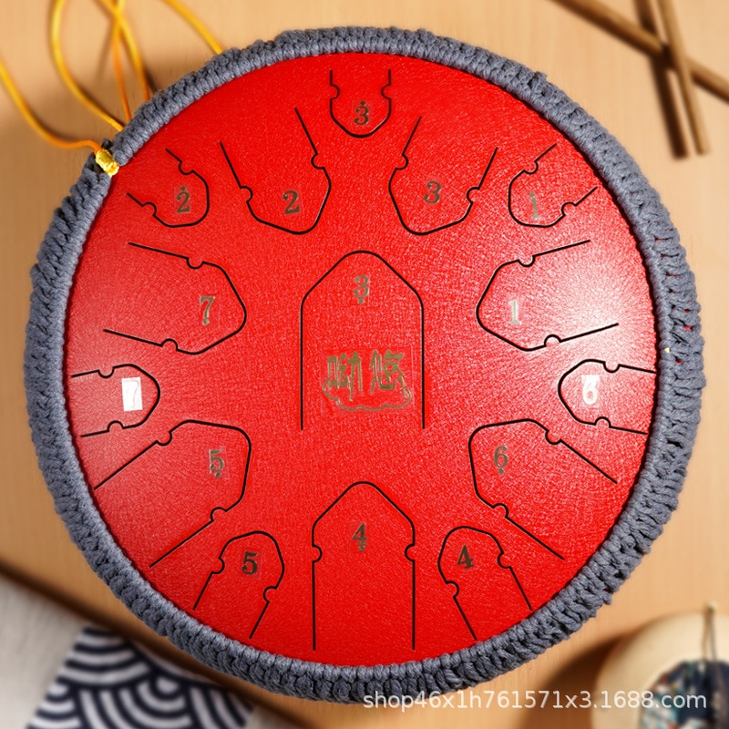 Ethereal drum 15-tone 14-inch C steel tongue drum color hollow drummer disc Wangyou drum professional enlarge