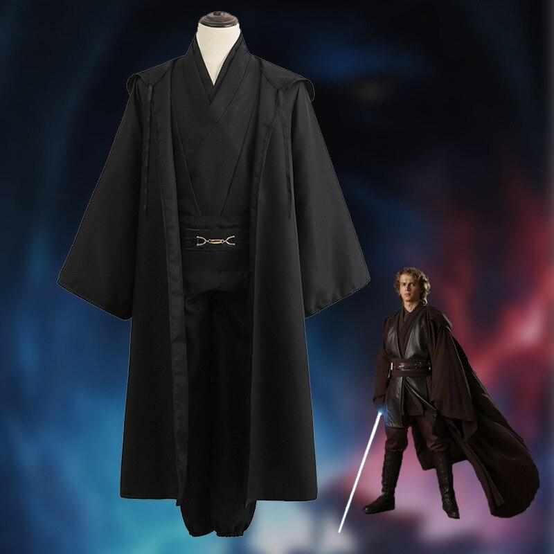 Star wars cosplay jedi traje cavaleiro mace windu obi wan anakin skywalker capa definir o capacete mandaloriano dia das bruxas adulto homem