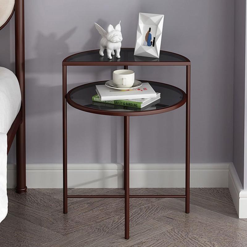 Маленький кофейный столик в скандинавском стиле Ins, угловой столик, Диванный прикроватный столик, Круглый прикроватный мини-столик для гост...