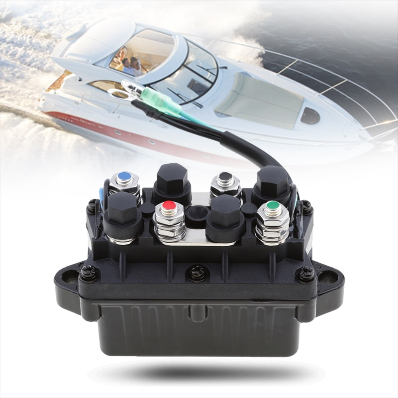 Boat Trim Relay 2 Wire Plug 12V Power Marine Trim & Relay For Yamaha 25/40/50/60/75/90/125/150/225HP 4 Stroke Outboard Engine