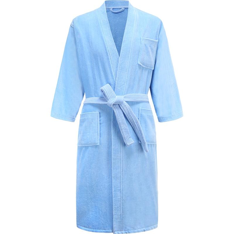 100% 25 хлопок длинные толстые впитывающие махровые ванна халат кимоно мужские легкие вафли полотенце халат плюс одежда для сна женщины халат халат