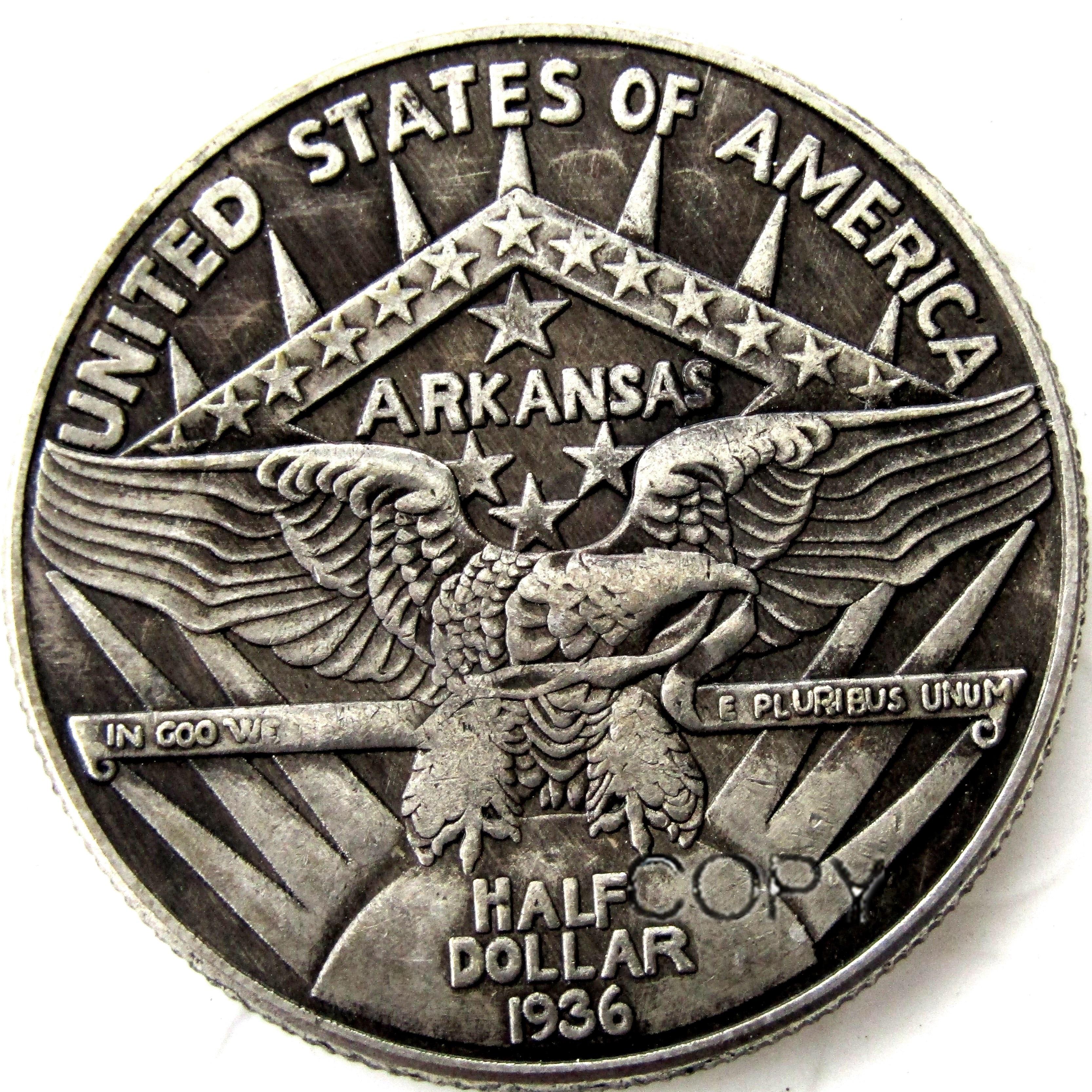 1936 памятная монета, Посеребренная полукопия долларов, монеты