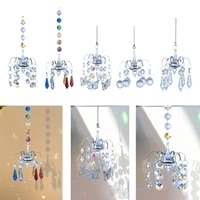 crystal pendant wind chime chandelier shaped prism faceted hanging jewelry ornament glass sun catchers indoor outdoor decor