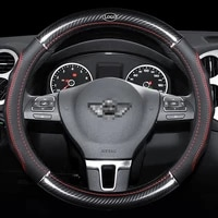 car carbon fiber leather steering wheel covers interior accessories 38cm for mini jcw f56 r55 f55 f56 r58 r60 r61 car styling