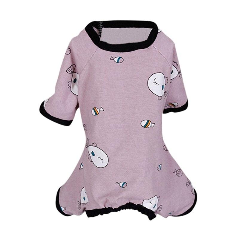 Roupas para animais de estimação roupas nova moda algodão casual gato cachorro venda quente modelo lazer chihuahua algodão macacão pijamas n06