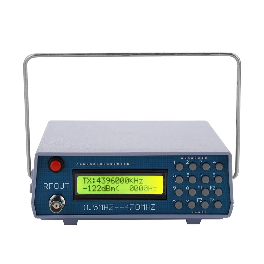 Potencia eléctrica 0,5 MHz-470MHz medidor generador de señal de función RF Digital para Radio FM walkie-talkie Debug CTCSS salida única