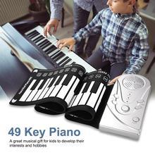 Portable 49 touches retroussable Piano USB MIDI clavier MIDI Conctroller main électronique Piano