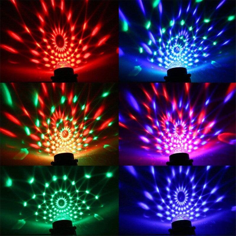 Красочный звук активированный вращающийся дискотека шар сцена свет лазер проектор ночь свет рождество вечеринка свадьба KTV светодио дный лампа подарки