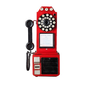 Antique Telephone Model Ornaments European Retro Telephone Ornaments Home Decoration Wall Hanging Crafts Kids Toy Furnishings