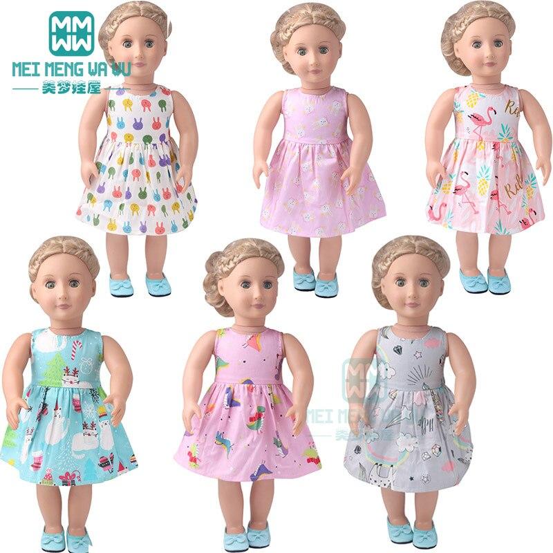 Boneca roupas para 45cm americano boneca brinquedo recém nascido boneca acessórios 15 estilo vestidos elegantes