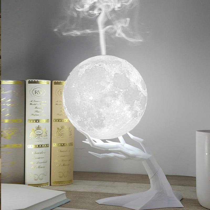 Firya lua led noite lâmpada 880 ml umidificador de ar ultra aroma difusor óleo essencial usb mistmaker humidificador natal